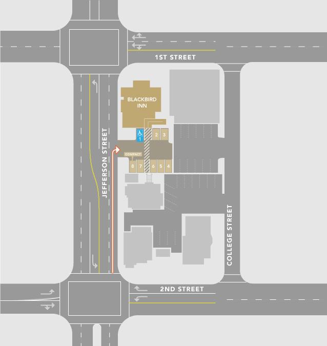 Blackbird Inn Directions Map
