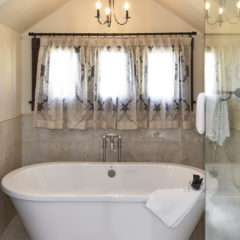 Bathtub, shower